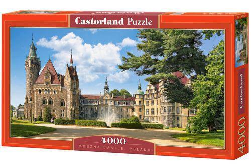 Ольский замок (перед замком фонтан). Moszna Castle (Poland) арт. 027. 4000 пазлов, фото 2