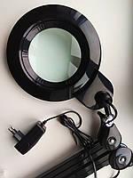 Led лампа 3 D черная металлическая