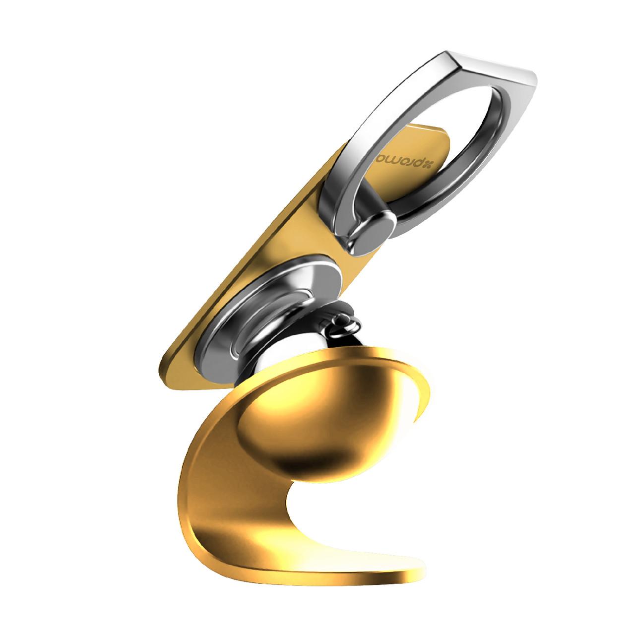 Автодержатель Promate Ring Mount Gold
