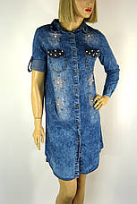Джинсове плаття туніка з стразами Sinsere, фото 2