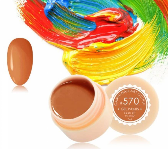 Гель-краска CANNI 570 оранжево-карамельная