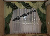 Ламбрекен со шторами на карниз 3 метра, фото 1