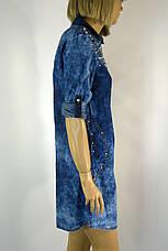 Джинсова туніка плаття з стразами Sinsere, фото 3