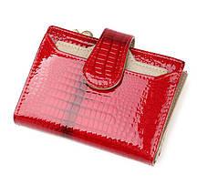 Лаковий жіночий гаманець з натуральної шкіри. Портмоне жіноча шкіра., фото 2