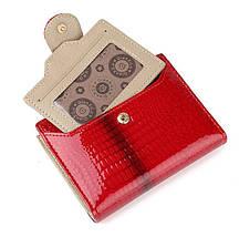 Лаковий жіночий гаманець з натуральної шкіри. Портмоне жіноча шкіра., фото 3