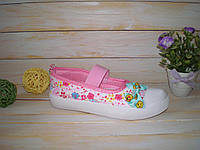Яркие текстильные кеды для девочки р26-31 ТМ GFB