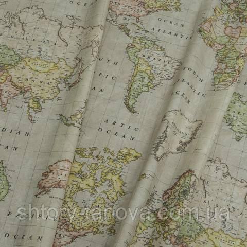 Водовідштовхувальна тканину, карта