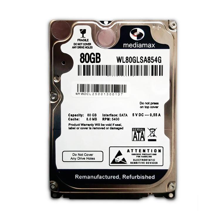 Жесткий диск 80 Гб Mediamax, SATA 2, 8Mb, 5400 rpm (WL80GLSA854G), нак