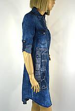Джинсова туніка плаття з принтом philipp plein, фото 2