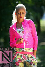 Женский костюм в цветочек 3йка с гипюровой кофточкой, фото 3