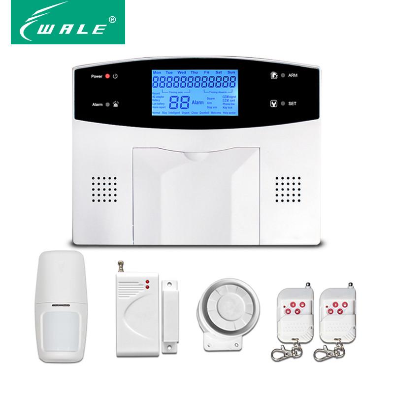 Комплект двухрежимной охранной сигнализации с ЖК дисплеем GSM+PSTN WL-