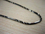 Серебряная цепь с черным родированием , фото 5