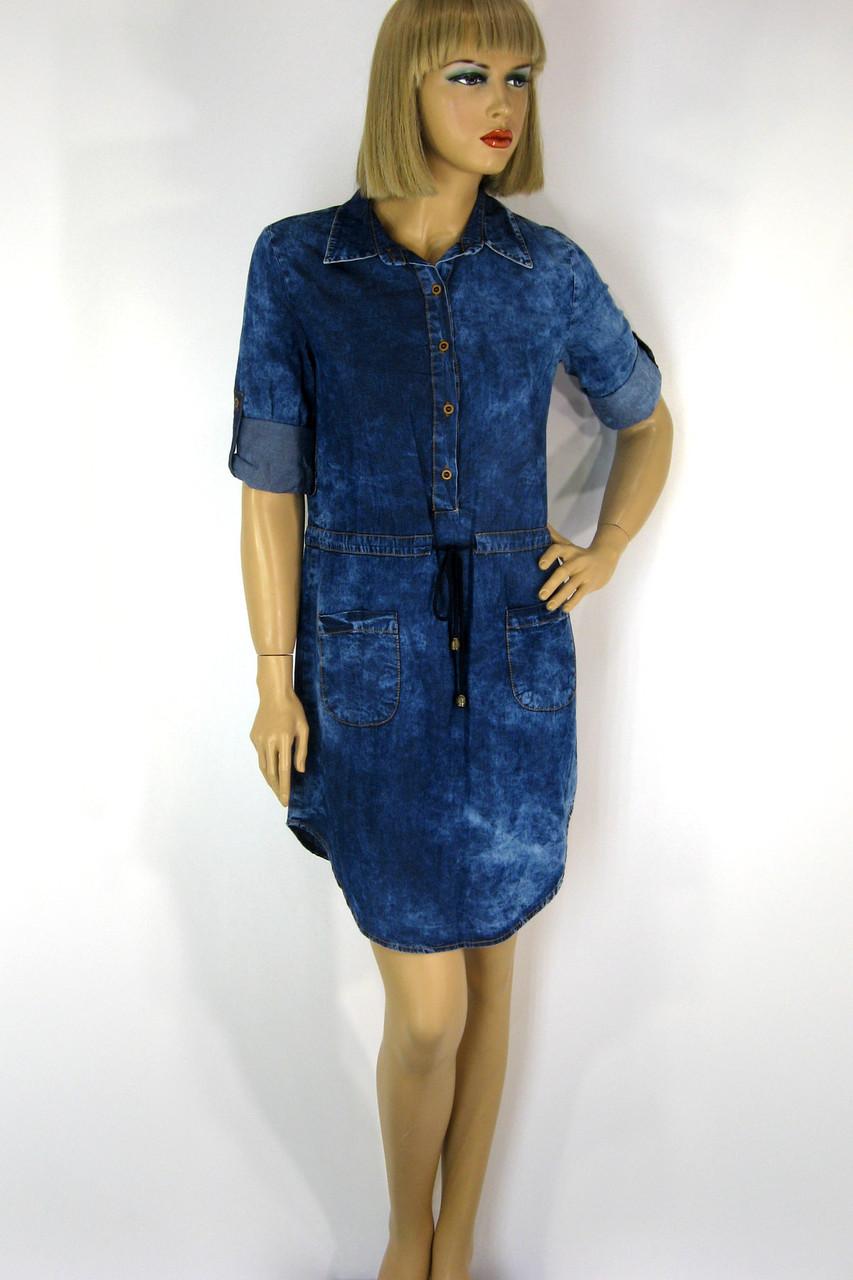 Модные джинсовые платья
