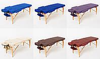 Массажный стол 2-х сегментный RelaxLine Bali, кушетка деревянная, стол для массажа