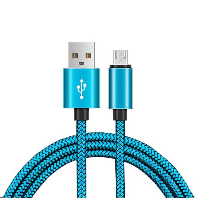 Кабель (шнур) USB-microUSB тканевый (100 см)