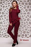 Женский ангоровый костюм с декорированной кофтой, в расцветках