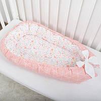 """Гнездышко-кокон для девочки """"Риф"""", позиционер, люлька, babynest, переносная кроватка, бортики для младенца"""