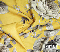 Портьерная ткань для штор - бутоны роз