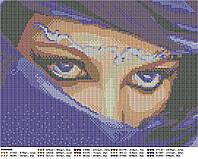 Схема для вышивки бисером Глаза цвета индиго