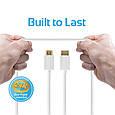 Кабель Promate linkMate-H1 HDMI - HDMI 1.5 м White, фото 3