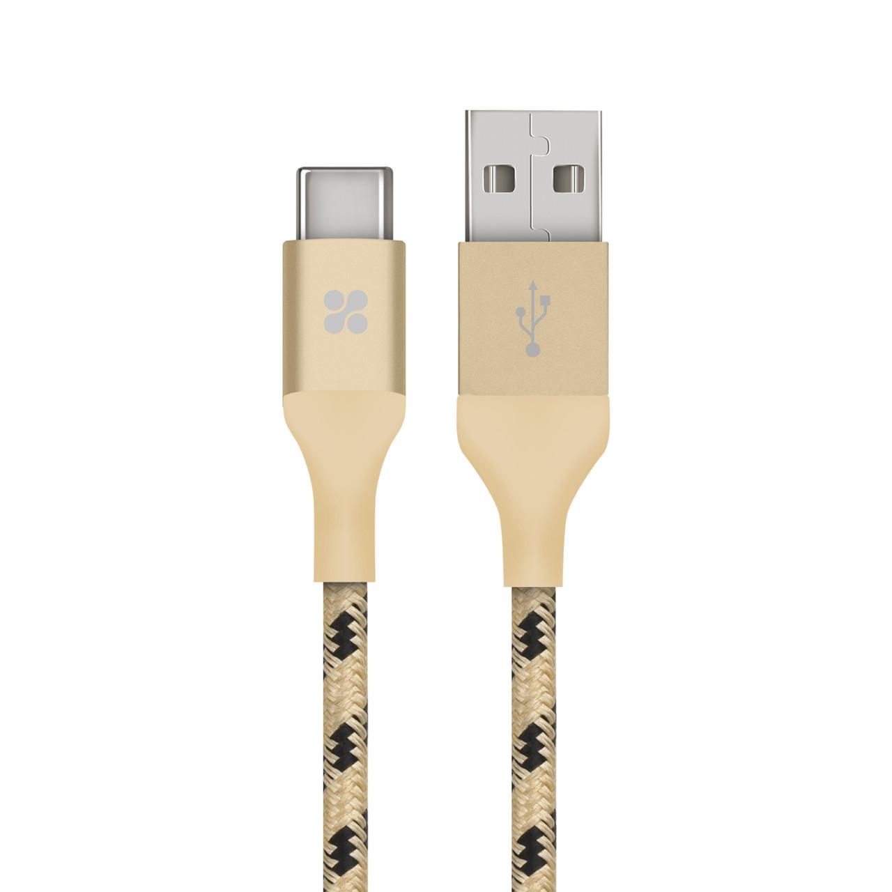 Кабель Promate uniLink-CAM USB - USB Type-C 1.2 м Gold