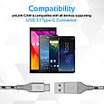 Кабель Promate uniLink-CAM USB - USB Type-C 1.2 м Grey, фото 3