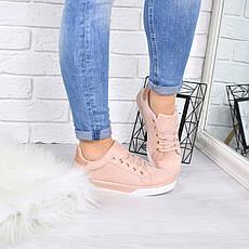 """Кроссовки, кеды, мокасины женские пудровые """"Kensiki"""" эко замша, спортивная, летняя, повседневная обувь, фото 3"""