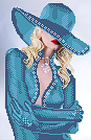 Схема для вышивки бисером Блондинка (в голубом), фото 1