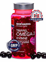Biopharma Trippel Omega-3 Kivinne, Концентрированный Рыбий Жир, + Витамины D, E, K, 120 капсул