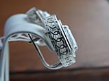 Серебряные серьги с золотой пластиной, фото 3