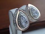 Серебряные серьги с золотой пластиной, фото 4