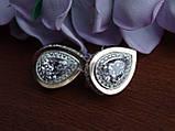 Серебряные серьги с золотой пластиной, фото 6