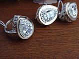 Серебряные серьги с золотой пластиной, фото 9