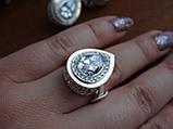 Серебряные серьги с золотой пластиной, фото 10