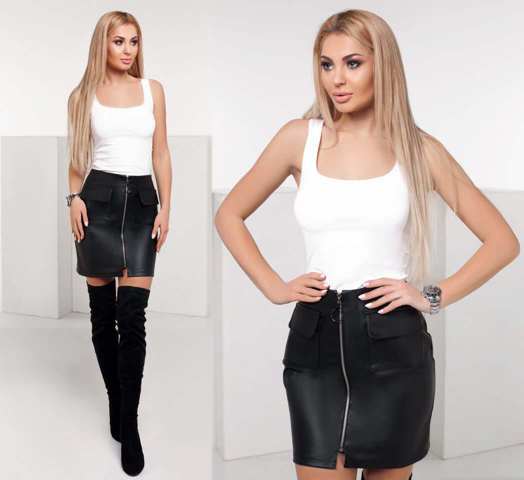 3fef6c2350b Женская стильная короткая юбка 1153