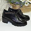 """Туфли женские на невысоком каблуке, натуральная кожа """"питон"""", фото 4"""