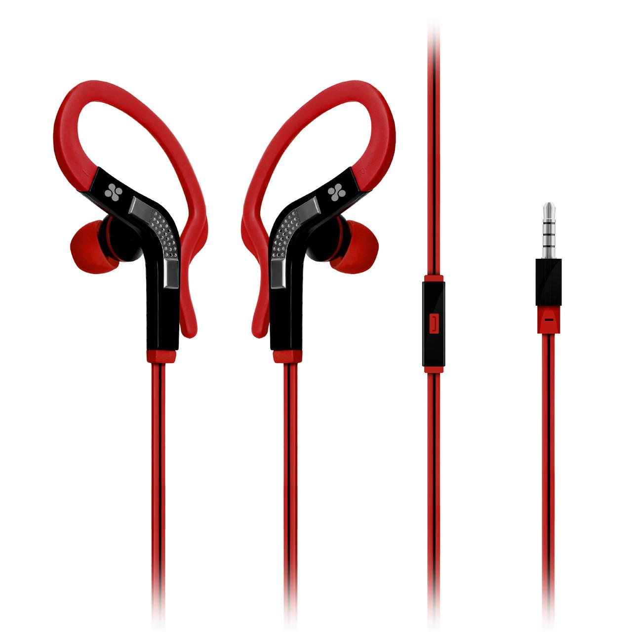 Наушники с микрофоном Promate Snazzy Red