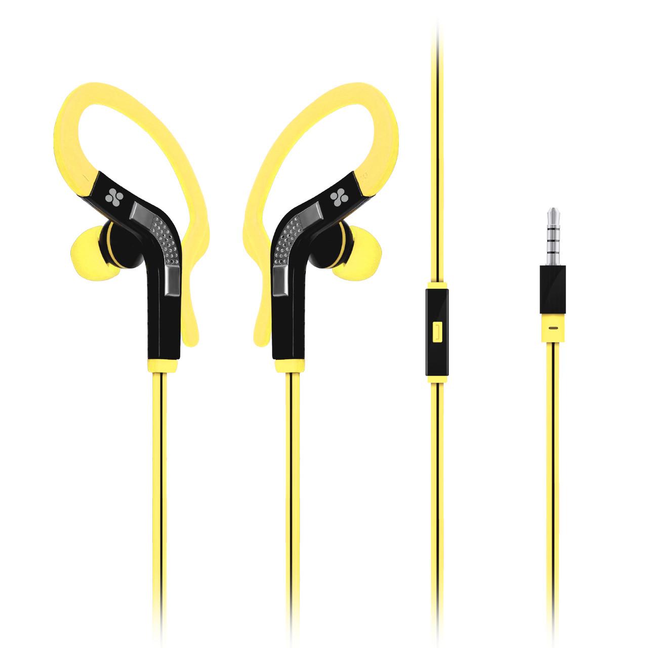 Наушники с микрофоном Promate Snazzy Yellow