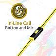 Наушники с микрофоном Promate Snazzy Yellow, фото 5