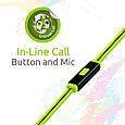 Наушники с микрофоном Promate Snazzy Green, фото 5
