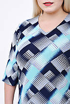 Платье женское Диагональ (бирюза) (р. 52-58), фото 3