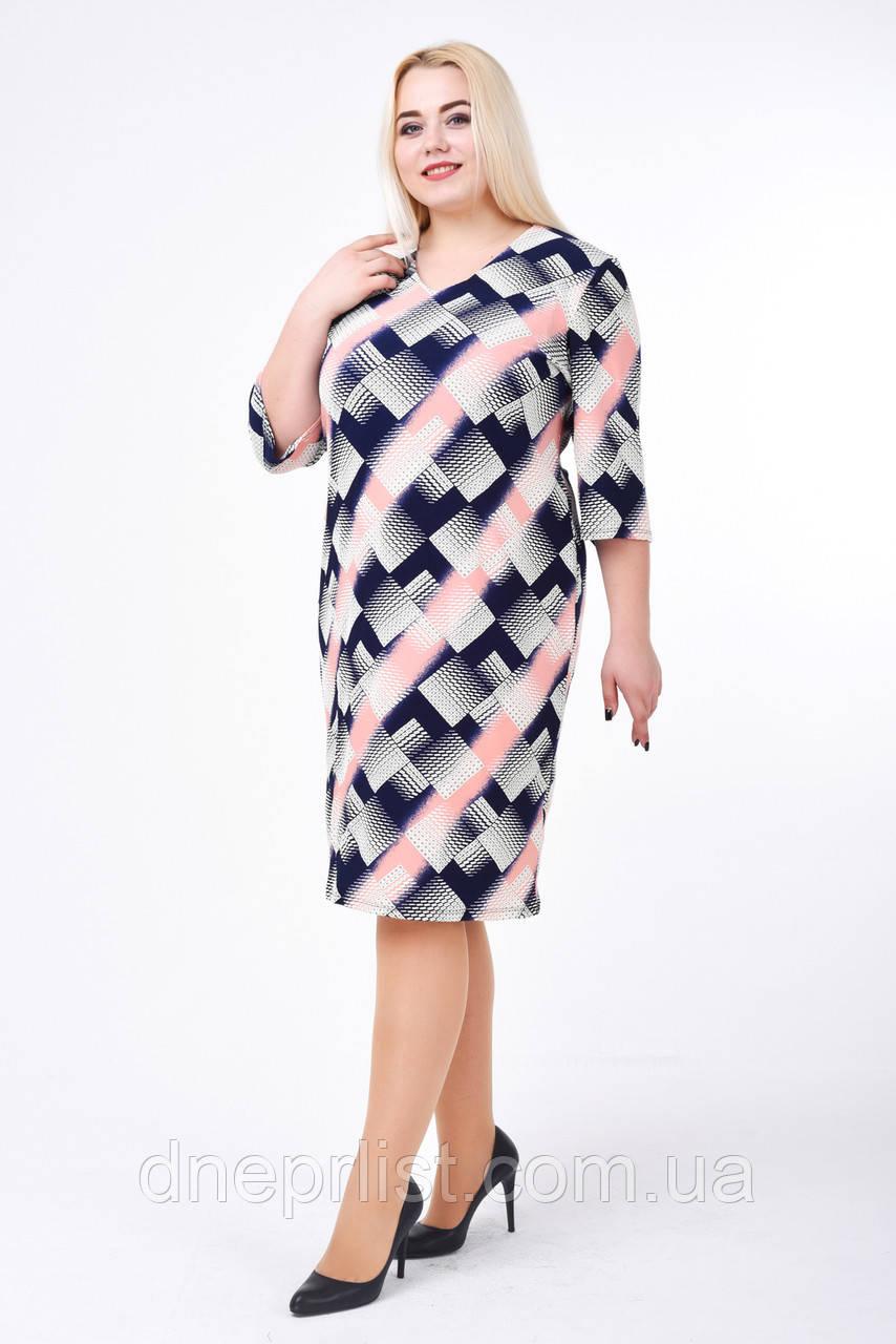 Платье женское Диагональ (розовый) (р. 52-58)