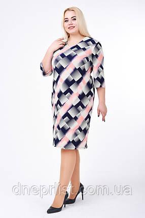Платье женское Диагональ (бирюза) (р. 52-58), фото 2