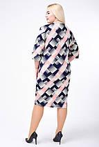 Платье женское Диагональ (розовый) (р. 52-58), фото 2