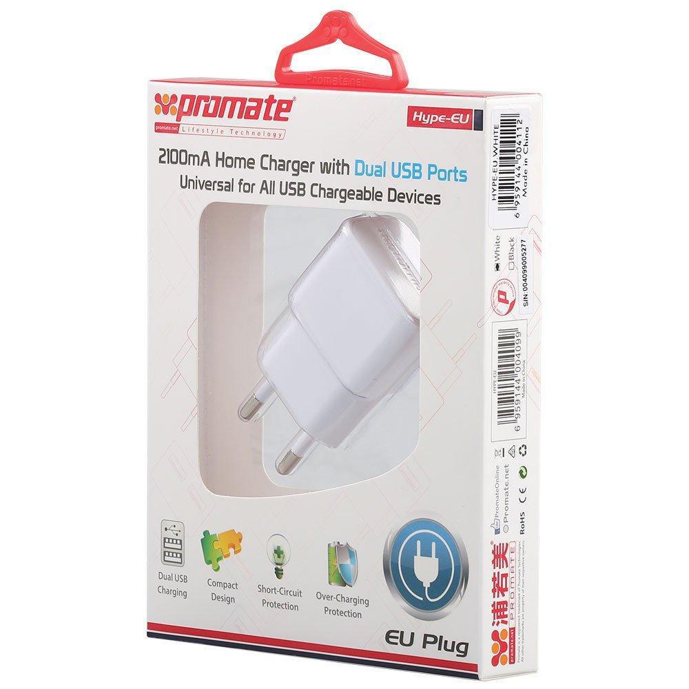 Высокоскоростное зарядное устройство Promate Hype.EU White