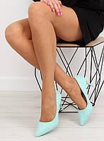 03-29 Зеленые замшевые женские туфли LEI-90 37,39,38,36,41,40