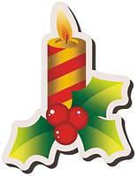 """Наклейка """"Новогодняя свеча"""""""