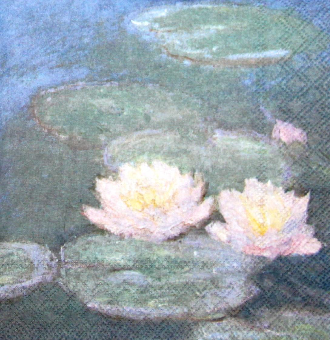 Декупажная салфетка картина Моне кувшинки 7412