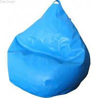 Бескаркасное кресло-мешок Груша Фреш экокожа ТМ Tia-sport Голубое sm-0069, фото 1
