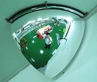 Купольное зеркало безопасности четвертное KLAQP-030-90